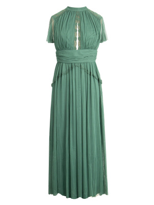 Anaya Emerald High Neck Midi Dress - Wholesale Pack