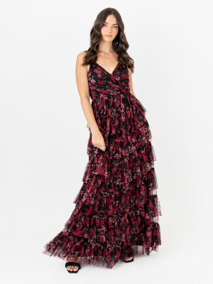 Anaya With Love Recycled Faux Wrap Floral Tiered Maxi Dress with Ruffle Detail - STRAIGHT SIZE Wholesale Pack