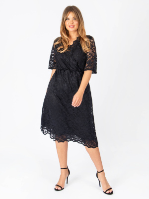 Lovedrobe GB Lace Wrap Midi Dress - Wholesale Pack