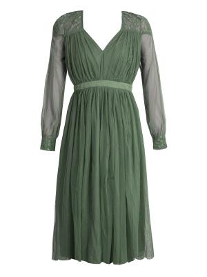 Anaya Emerald Green Lace Maternity Midi Dress - Wholesale Pack