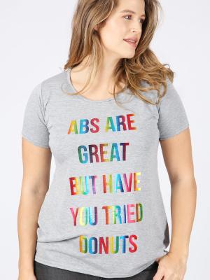 Curve Essentials Grey Donut Slogan T-Shirt - Wholesale Pack