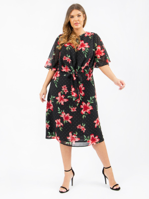 Koko Floral Print Tie Front Midi Dress - Wholesale Pack