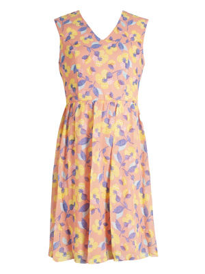 Maya Coral Floral Cap Sleeve Mini Dress - Wholesale Pack