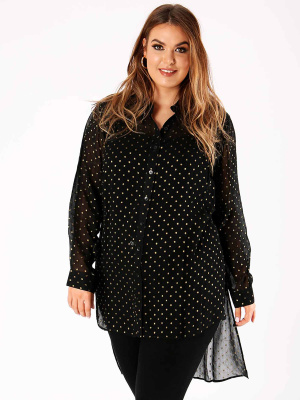 Koko Gold Spot Sheer Shirt - Wholesale Pack