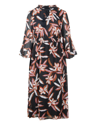 Lovedrobe Floral Maxi Dress with Sheer Sleeves - Wholesale Pack