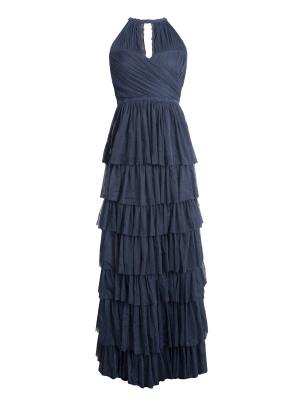 Anaya Navy Ruffle Maxi Dress - Wholesale Pack